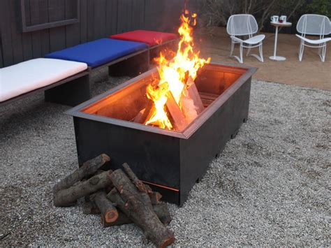 wood burning fire pit ideas outdoor design landscaping ideas porches decks patios hgtv
