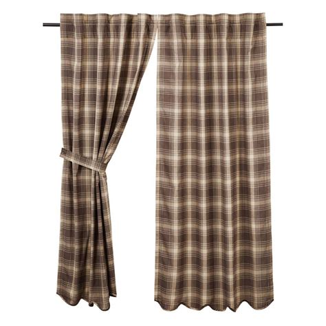 plaid drapes dawson plaid curtains pair www bestwindowtreatments com