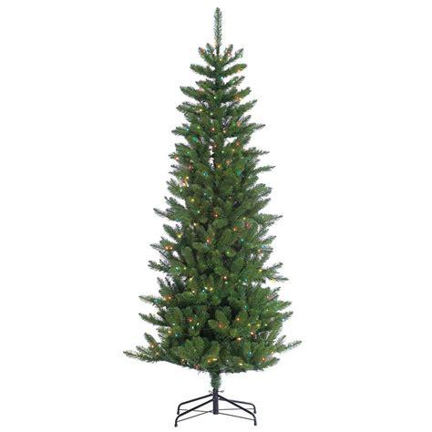 sterling  ft pre lit narrow augusta pine artificial