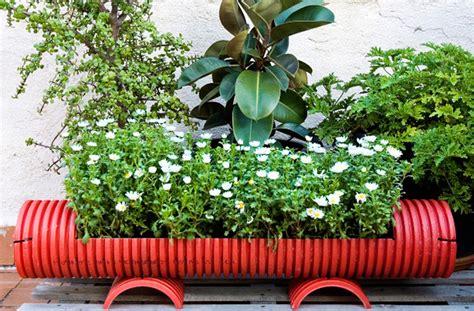 original pvc pipe planters  liven   garden