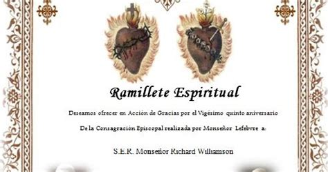 imagenes de ramilletes espirituales non possumus ramillete espiritual para monse 209 or williamson