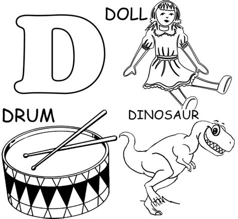 d coloring pages for kindergarten letter d coloring pages free printable coloring pages