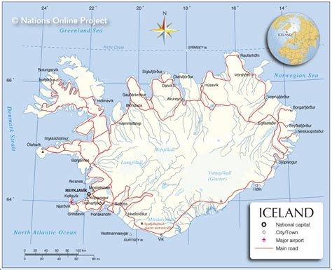 map iceland map of iceland nations project