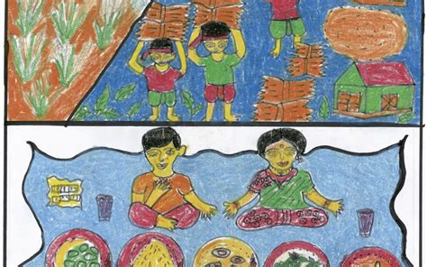 themes for drawing and painting competition zero hunger a world without hunger by child artists