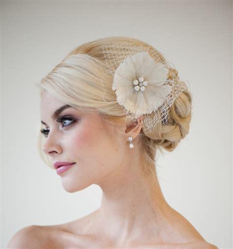 fascinators for hair feather fascinator bridal fascinator wedding by powderbluebijoux