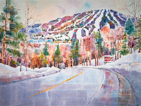 stratton mountain  painting  vermont artist peter huntoon