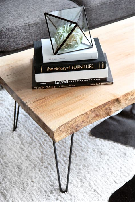 187 diy wood slab coffee table