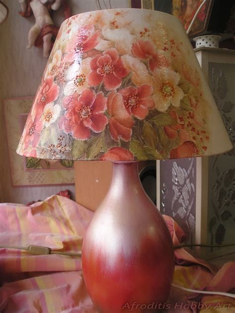 Decoupage Light Shade - pin by afroditis hobby on decoupage afroditis hobby
