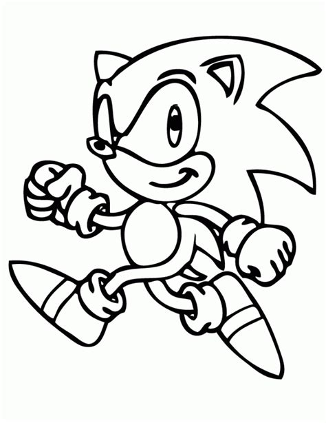 Coloring Page To Print by Get This Printable Sonic Coloring Pages 237382