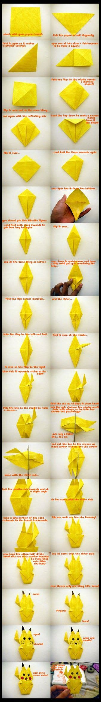 How To Make A Pikachu Origami - 17 best images about kirigami paper cut origami