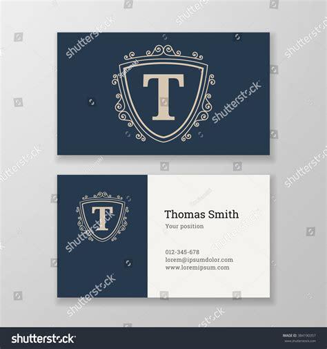 t card template design business card monogram emblem letter t stock vector