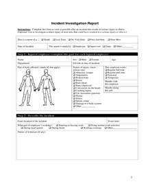 Employee Incident Report Templates employee s report of injury form university of iowa free
