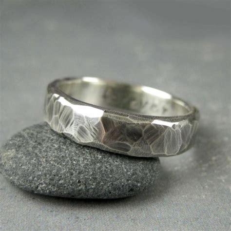 hewn mens wedding band 5 or 6mm custom engraved