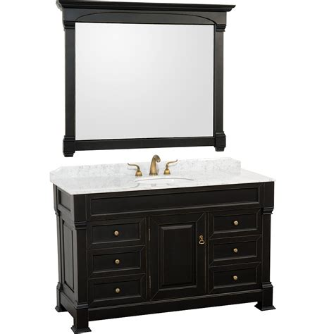 55 bathroom vanity 55 quot andover single bath vanity black bathgems com