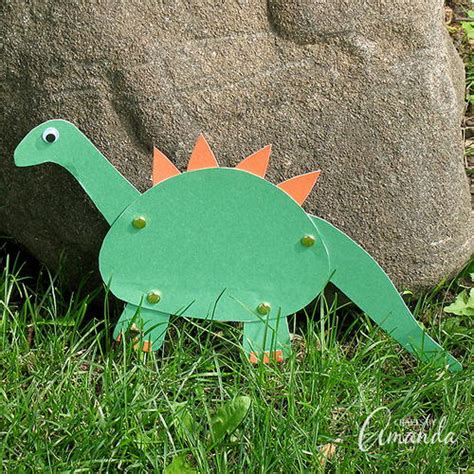 Dinosaur Paper Craft - construction paper dinosaur craft allfreepapercrafts