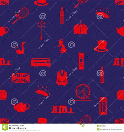 united kingdom pattern united kingdom country theme symbols seamless pattern