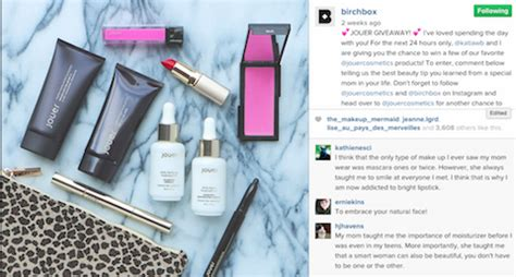 Birchbox Giveaway - 5 brands on instagram that succeed with influencer marketing social media examiner