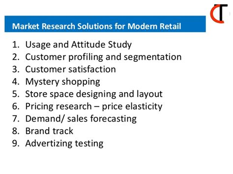 Marketing Study With Solution For Mba by Market Research Solutions For Modern Retail
