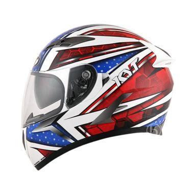 Helm Kyt Rc710 Whitered jual kyt vendeta allstar white blue helm