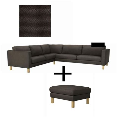 ikea karlstad corner sofa and footstool slipcover cover