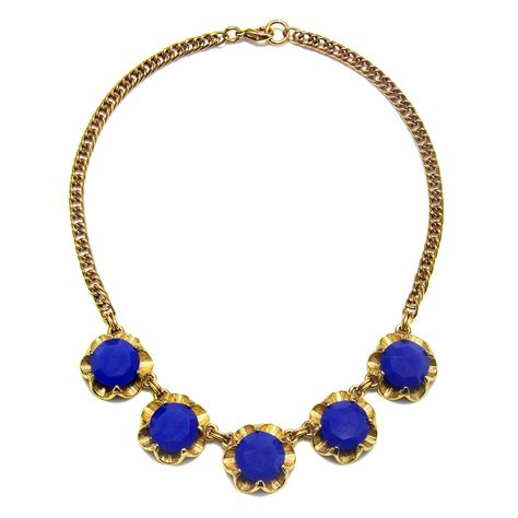 gerard yosca ultra marine howlite necklace in blue marine
