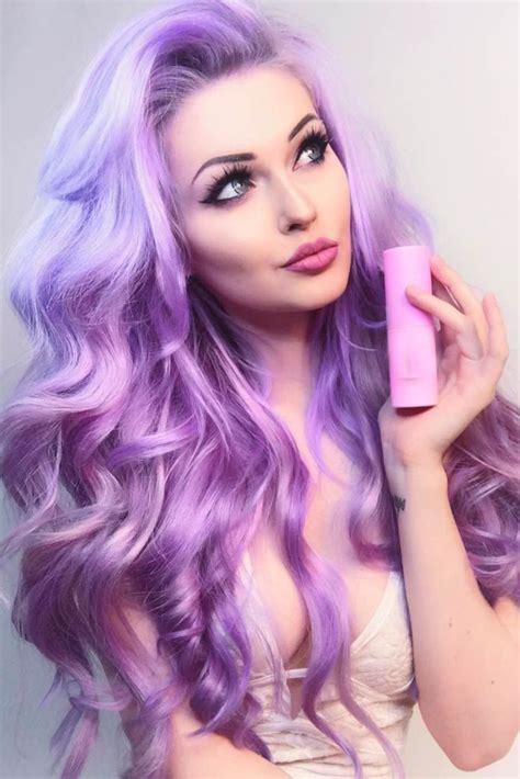 purple hair ideas  pinterest violet hair