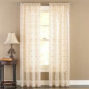95 drapery panels buy celeste antique sheer 95 inch rod pocket window