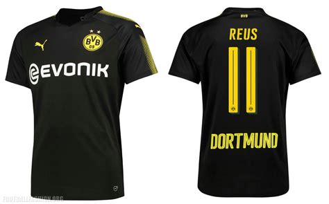 Jersey Dortmund Away borussia dortmund 2017 18 away kit football fashion org