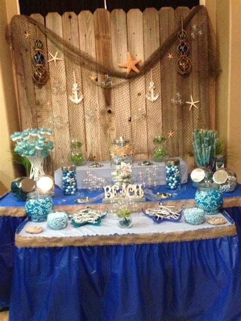 themed parties for bars ocean themed candy bar party ideas pinterest old