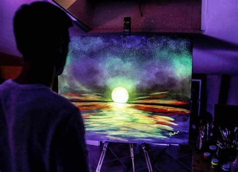 glow in the painting artist glow in the paint reveals surprises in paintings when