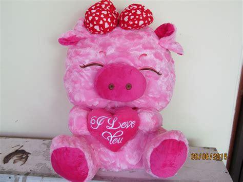 Boneka Babi Jumbo Pig jual boneka babi merah muda dg pita uk jumbo lucu imut unik lembut hq deetama s shop