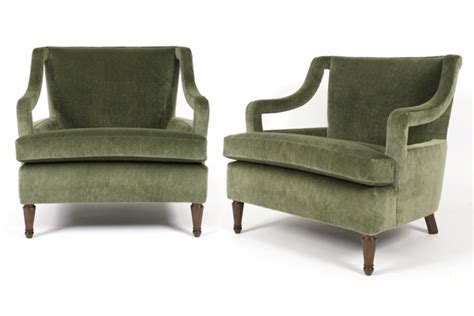decorative recliners pair of sage mohair decorative arm chairs red modern
