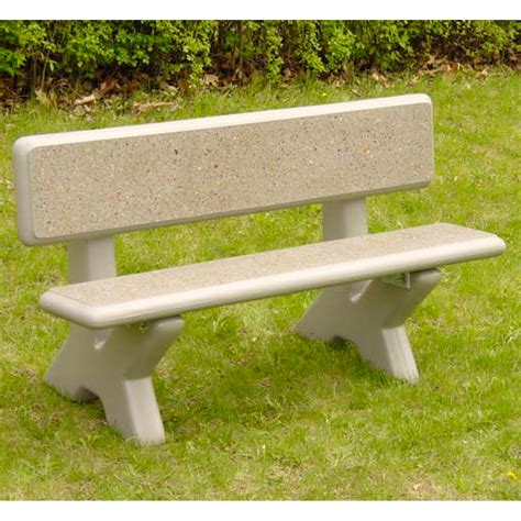 petersen mesa 5 ft concrete commercial park bench