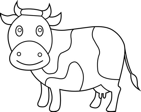 cute cow coloring page free clip art