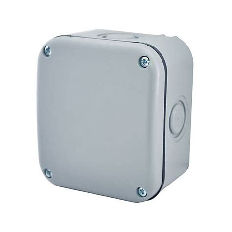 Outdoor Lighting Junction Box Masterplug Small Exterior Junction Box Grey 85 X 75mm Wickes Co Uk