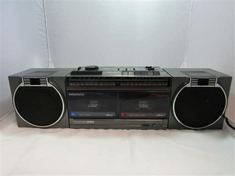 cassette recorder magnavox d8460 boombox dual cassette recorder am fm radio