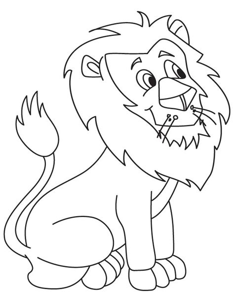 cute lion coloring pages cute lion cartoon coloring page download free cute lion