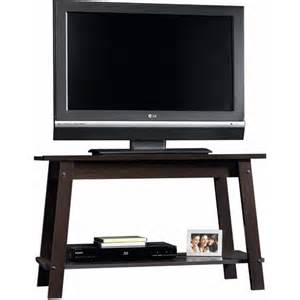 sauder beginnings cinnamon cherry tv stand for tvs up to