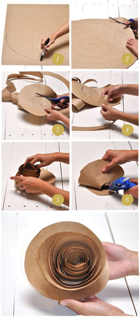 How To Make Paper Rings Step By Step - diy paper flower backdrop green wedding shoes