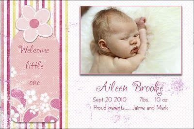 birth announcement cards template free 17 best images about birth announcement templates on