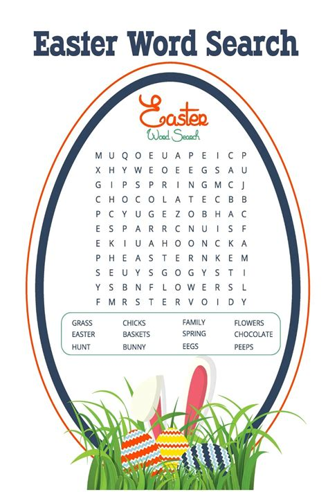 easter word search printables for learning printable