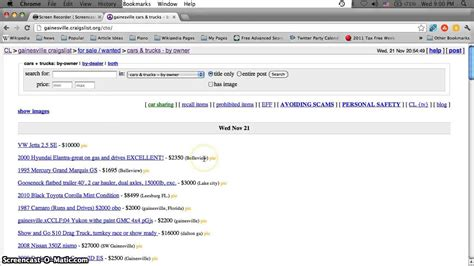 Craigslist Port Fl Cars by Craigslist Florida Search All Cities And Towns For Used