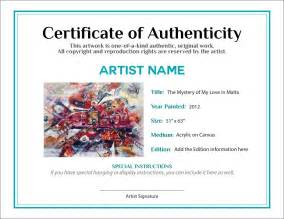 photography certificate of authenticity template documenting the sale of your artwork agora advice