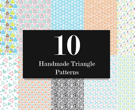triangle pattern indesign hand drawn vector triangle seamless patterns
