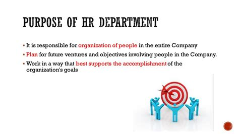 What Is The Purpose Of The Department Of Interior human resource hr department ppt