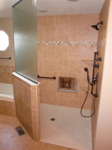 Shower Stall Designs Small Bathrooms by Handicap Shower Accessible Systems