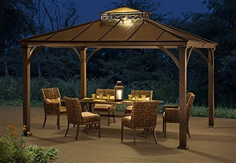 10 x 12 outdoor mat sunjoy 12 x 10 two tier hardtop gazebo matt black poles