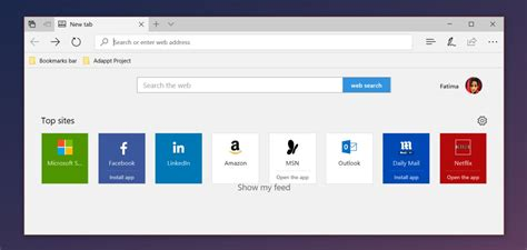 best sit how to customize top in microsoft edge