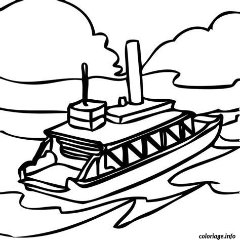 dessiner un bateau livre coloriage bateau mouche jecolorie