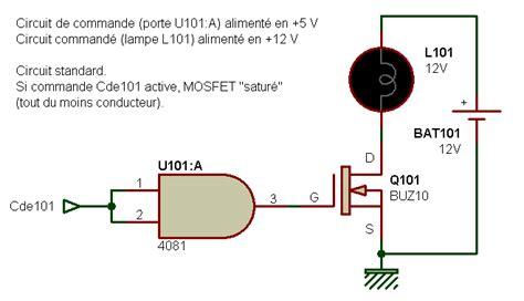 transistor mosfet commutation electronique realisations interfaces logique 001